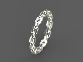 "Stackable ""Linkage"" Band in 14k White Gold: 6 / 51.5"