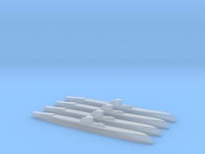 Delfinul class (1/2400) x4 in Smooth Fine Detail Plastic