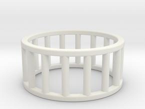 Albaro Ring- Size,9 in White Natural Versatile Plastic