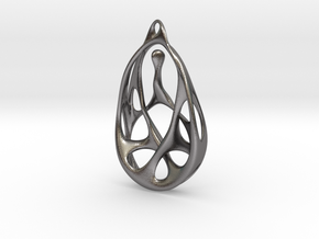 Pounamu Pendant in Polished Nickel Steel