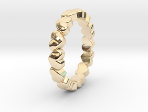 "Stackable ""Throbs"" Ring in 14k Gold Plated Brass: 4.5 / 47.75"