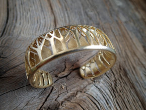 Forest for the Trees Cuff in Polished Bronze: Small