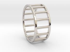 Albaro Ring- Size, 12 in Rhodium Plated Brass