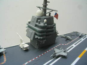 Gerald R. Ford Island in White Strong & Flexible: 1:700