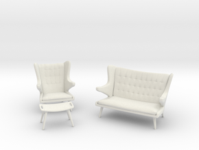 Wegner Papa Bear Collection in White Natural Versatile Plastic: 1:48
