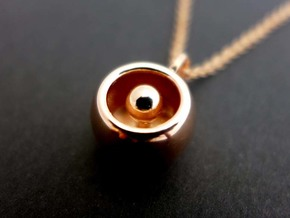 Levitation Sphere Pendant in 14k Rose Gold Plated Brass