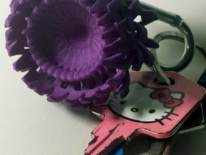 Thistle Keychain in Purple Processed Versatile Plastic
