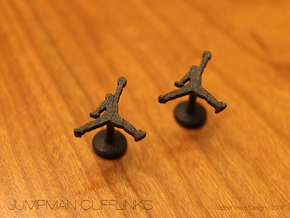 Jumpman Cufflinks in Matte Black Steel