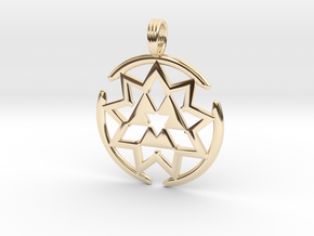 MAGNEVORTEX in 14k Gold Plated Brass