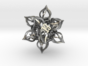 'Kaladesh' D20 Balanced Gaming Die in Natural Silver