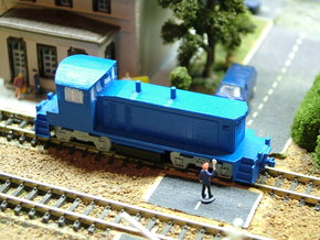 EMD SW1500 Locomotive - Zscale in Frosted Ultra Detail