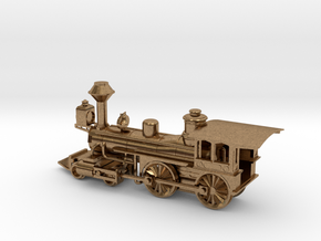 Grant 4-4-0 Locomotive - Aluminum - Nscale in Interlocking Raw Brass