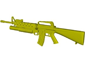 1/15 scale Colt M-16A1 & M-203 rifle x 1 in Smooth Fine Detail Plastic