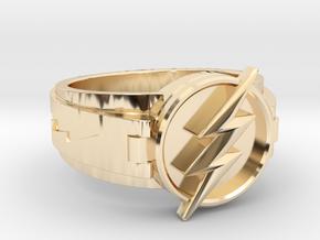 V3 Regular Flash Size 10.25 20mm in 14K Yellow Gold