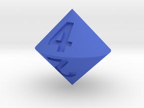 d4 Bicone in Blue Processed Versatile Plastic