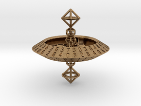 d70 trapezohedron die in Natural Brass: Extra Large