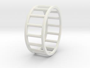 Albaro Ring Size-13 in White Natural Versatile Plastic