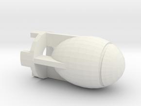 Fatman Bomb in White Natural Versatile Plastic