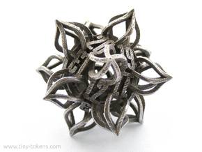 'Kaladesh' D20 Spindown Life Counter in Polished Bronzed Silver Steel