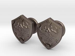 Hylian Shield Cufflinks in Polished Bronzed Silver Steel