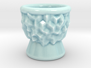 DRAW shot glass - inverted geode in Gloss Celadon Green Porcelain