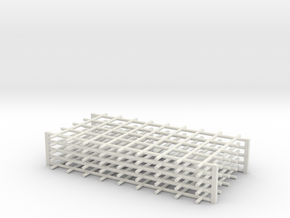 Rebar Grid 4 Feet x 8 Feet 1-87 HO Scale  in White Natural Versatile Plastic