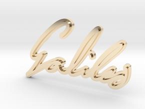Galileo Galilei Pendant in 14k Gold Plated Brass
