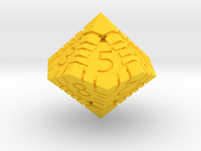 D10 - Andrew Bell 3d - Geometric Design 1 in Yellow Processed Versatile Plastic