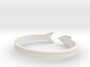 "Ashe ""never lose focus"" Bracelet in White Natural Versatile Plastic: Large"