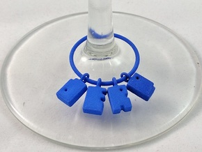 DERP - Wine Charm in Blue Strong & Flexible Polished