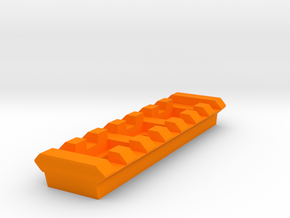 7 Slots Rail (Pre-Drilled) in Orange Strong & Flexible Polished