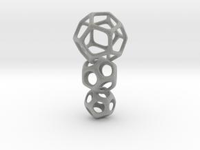 Interlocked Platonic Pendant - 3pts in Metallic Plastic