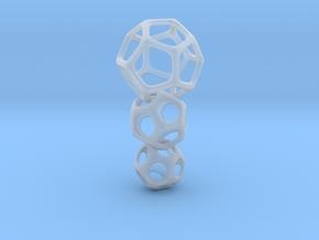 Interlocked Platonic Pendant - 3pts in Smooth Fine Detail Plastic