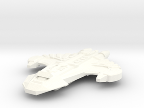 The Spartan • Battle Cruiser in White Strong & Flexible Polished