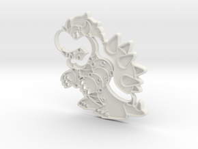 Paper Bowser in White Natural Versatile Plastic