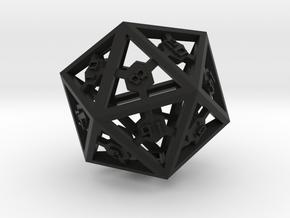 D20 Epoxy Dice in Black Natural Versatile Plastic