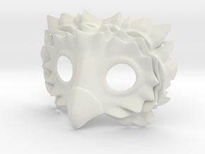 Splicer Mask Owl in White Natural Versatile Plastic