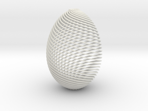 Designer Egg in White Natural Versatile Plastic