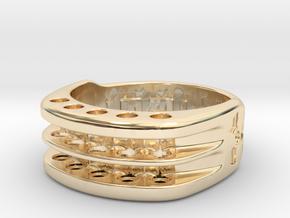 US10.5 Ring XI: Tritium in 14K Yellow Gold