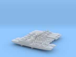 JMSDF Auxiliary Ships Set, 8p, 1/6000 in Smooth Fine Detail Plastic