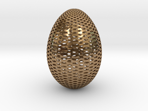Designer Egg 2 in Natural Brass