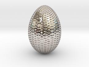 Designer Egg 2 in Rhodium Plated Brass