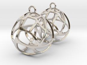 Earrings Spherical Mesh in Platinum