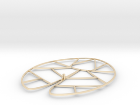 Lotus leave in 14k Gold Plated Brass