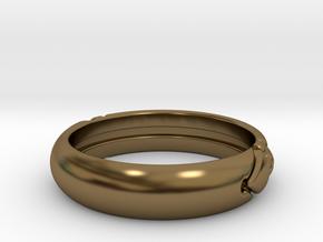 Atlantis ring in Polished Bronze: 7 / 54
