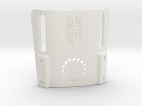 Scythe low-ride holster platform for 50mm duty bel in White Natural Versatile Plastic