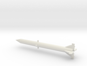 1/110 Scale Redstone Missile in White Natural Versatile Plastic
