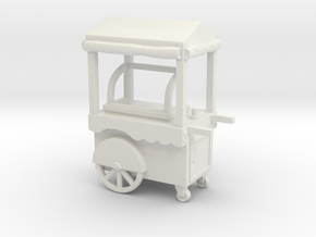 Food cart 01. 1:96 Scale in White Natural Versatile Plastic