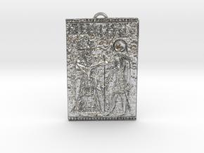 KEMETIC Pendant in Natural Silver