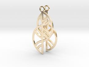 Geometric Earrings - 3D Printed in Metal in 14K Yellow Gold